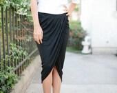 Womens Maxi High Low Skirt -  Intermix Shift Skirt