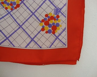 Polka Dots Scarf square scarf White scarf Red scarf Purple scarf Large square scarf Balloons red purple yellow dots bundle bouquet scarf