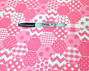 Hexi C770-70 in Hot Pink from Riley Blake Fabrics 1/2 yard  on sale