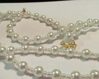 creamy white pearl necklace