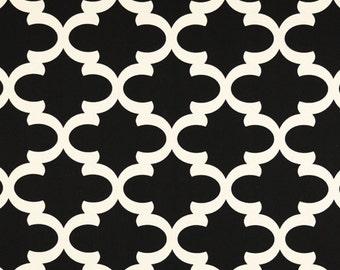 "Fynn Black Onyx Natural fabric | Premier Prints 54"" width Cotton Twill | Home Dec fabric"