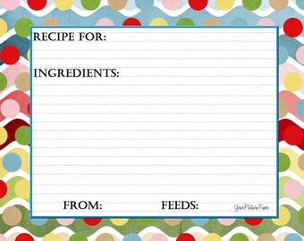 Polka Dot Recipe Cards
