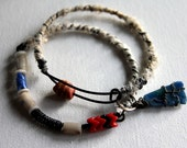 Bangle Set of Two - Vintage Trade Beads - Handmade