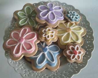 Artificial Cookies ~ Fake Cookies  ~ Faux Cookies ~ Beautiful Sugar Cookies ~ Fake Food ~ Home Staging Food ~ Kitchen Home Decor