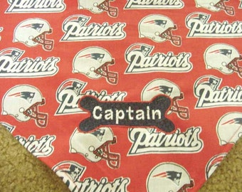 Personalized  New England Patriots Football Dog Cat Pet Bandana Scarve