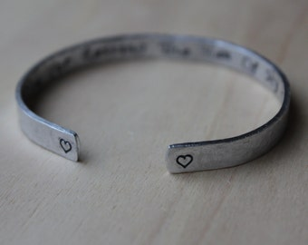 Thank You for Raising the Man of My Dreams.Mother of the Groom. Handstamped Cuff Bracelet. Silver Aluminum