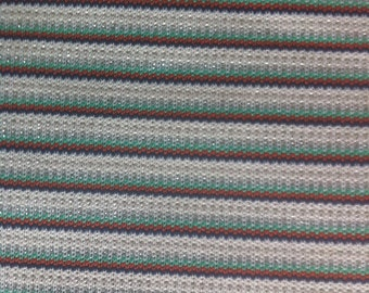 """70"""" wide 1 yard 32"""" Sparkly Striped Knit"""