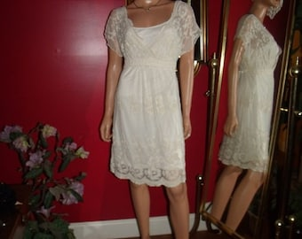 Vintage Dress Flapper G.Gatsby  does 20-30s Theme Size  L