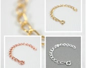 3 inch extender chain for jewelry gold silver or copper plated jewellery extender chain extender lengthener