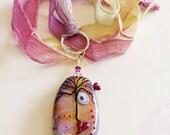 Heartburst Tree Necklace Lampwork Sterling Silver Necklace by keiara SRA