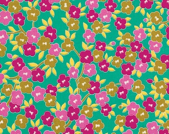 Jennifer Paganelli - Lucky Girl, Emma in Green PWJP082 100% Quilters Cotton Available in Yards, Half Yards and Fat Quarters