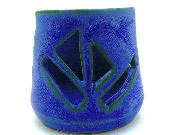 Handmade Pottery Sponge Holder geometric design by Julie Payne