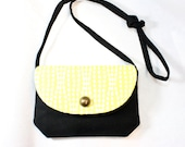 SALE    Stone Crossbody- Light Yellow and White Polka dot-- Sale, Ready to Ship, free Shipping to US