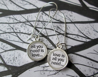 All You Need is Love Lyric The Beatles  Earrings