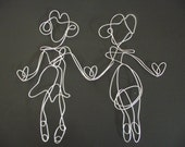 Sisters (Best Friends) Wire sculpture/ picture frame 10in by 11.5in- holds 2, 4in by 6in photos