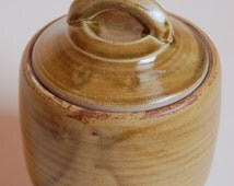 Lidded Jar in Sienna