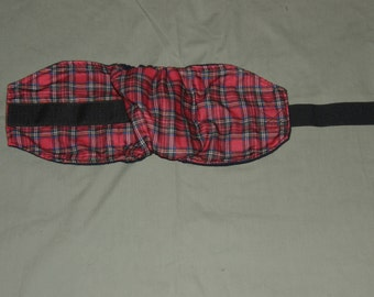 """One Red Plaid Male Dog Diaper 