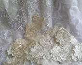 Fabric Sample/Swatch  Lace, Chiffon, Ribbon to Match your Theme Color