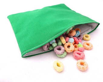 Green Reusable Snack Bag