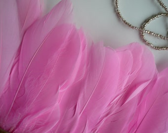GOOSE FEATHER,  Exclusive  Quality, Cotton Candy  Pink / 793