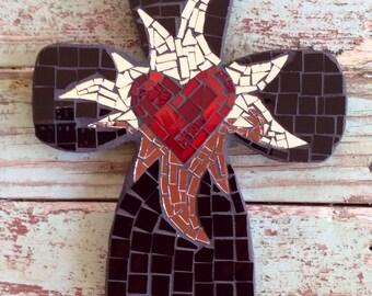 Black Mosaic bubble cross