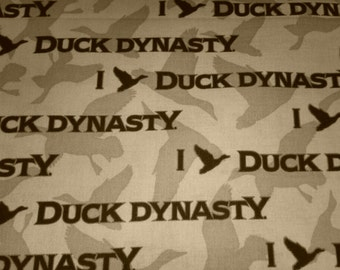 Duck Dynasty Character Cotton Fabric 43 inches wide sold by the 1/2 yard
