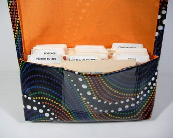 Waterproof Coupon Organizer Holder Rainbow Dots - Orange Lining
