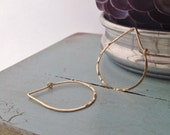 Gold Teardrop Hoop - Medium (H01GF-M) Hammered, Gold Filled, Hoops - wire jewelry by cristysjewelry on etsy