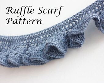 PDF Crochet Pattern, Ruffle Scarf Pattern, Digital Download, Crocheted ...