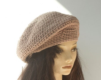 Quick Beret Crochet Pattern, Instant Download, Slouchy Beanie  Hat PDF Pattern