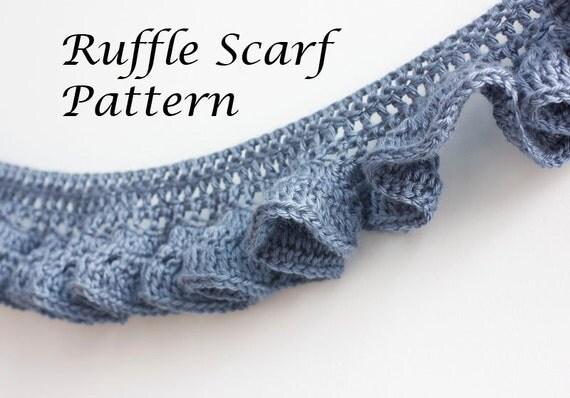 Crochet Pattern Lace Ruffle Scarf : PDF Crochet Pattern Ruffle Scarf Pattern Digital Download