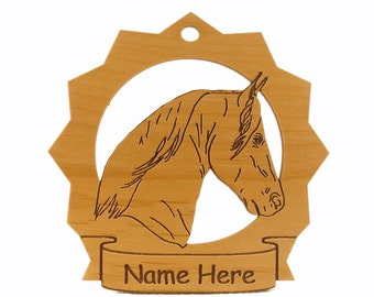 Rocky Mountain Head Horse Wood Ornament 088260 Personalized With Your Horse's Name