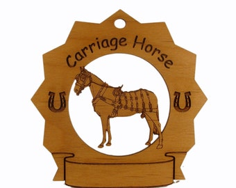 8267 Royal Carriage Horse Personalized Wood Ornament