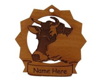 Cow Head Personalized Farm Ornament
