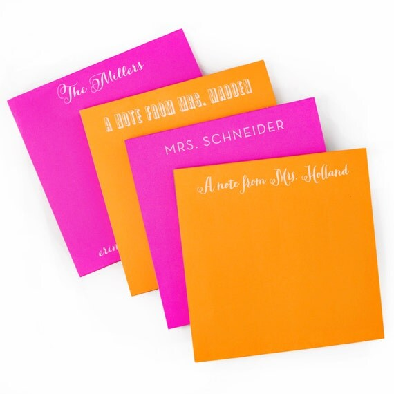 Custom Notepads Memo Pads: Personalized Neon Square Note Pad