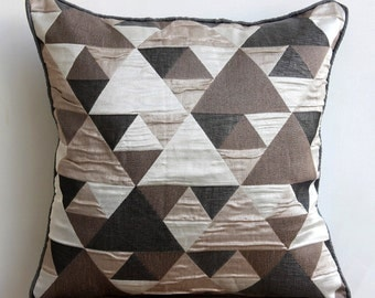 Decorative Throw Pillow Covers Couch Pillows Sofa Pillow Toss Pillow Pillow Case 16x16 Throw Pillow Cover Brown Origami Home Living Decor