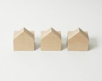 Beech wood wall hooks, casas design, natural colour