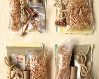 LAST TWO (sale!) - Beige mixed media kit - 1 mini set of alternative stock