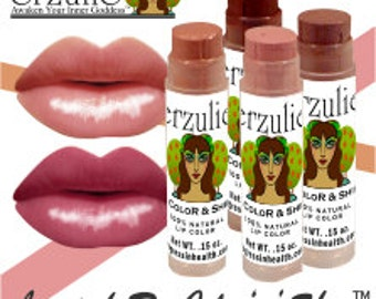 On sale  Your choice of Three Colors Mineral Lipstick Rx Color & Shine  organic lipstick and gloss all in one  long-lasting formula