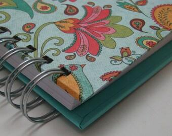 Daily Gratitude/ Mini Journal/ Gratitude Journal/ Pocket Size/ Grateful Journal/ Thankful Journal/ Year Journal/ 1 year/ Turquoise Paisley