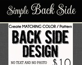 OPTIONAL SIMPLE Back Side Design Fee - only for Starlite designs