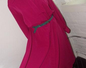 Plus-Size Fuchsia  Shirtdress