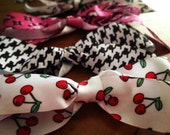 Snood Bow Hair Clip Fancy Print Vintage 1940s Style  Retro Pinup