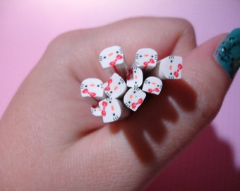 10 Pieces Hello Kitty Fimo Clay Canes/Rods, 3D Nail Art/Crafting
