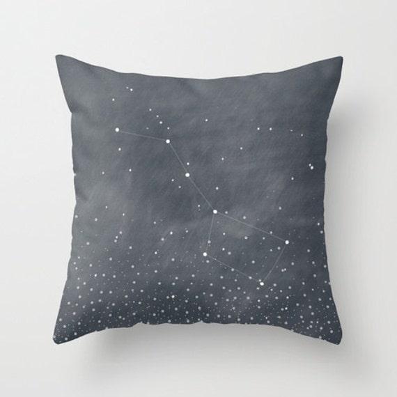 Throw Pillows With Stars : Ursa Major Stars Constellation Throw Pillow by bellesandghosts