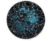 Imaginary Star Chart Number 7 - Original Watercolor Art - 8x10 Painting - Astronomy, Night Sky, Constellations - by Natasha Newton - theblackbirdsings
