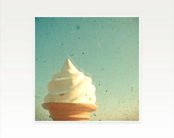 Food Photography, Seaside Art, Beach House Decor, Nursery, Kids Room Art - Ice Cream