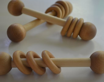 Wooden Baby Rattle-This listing is for ONE rattle only!!