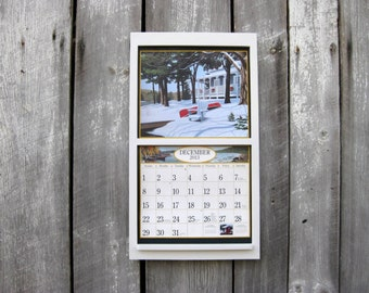 135 x 24 wood calendar holder wooden calendar frame square modern straight design classic white large