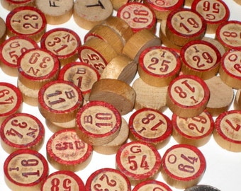 Large Lot of Vintage Bingo Numbers - Almost Complete Set of 72 and 44 Extras for Altered Art, Crafts, Collage, etc.